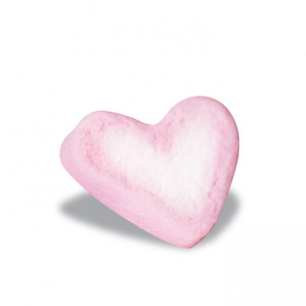 marshmallows heart pink - white